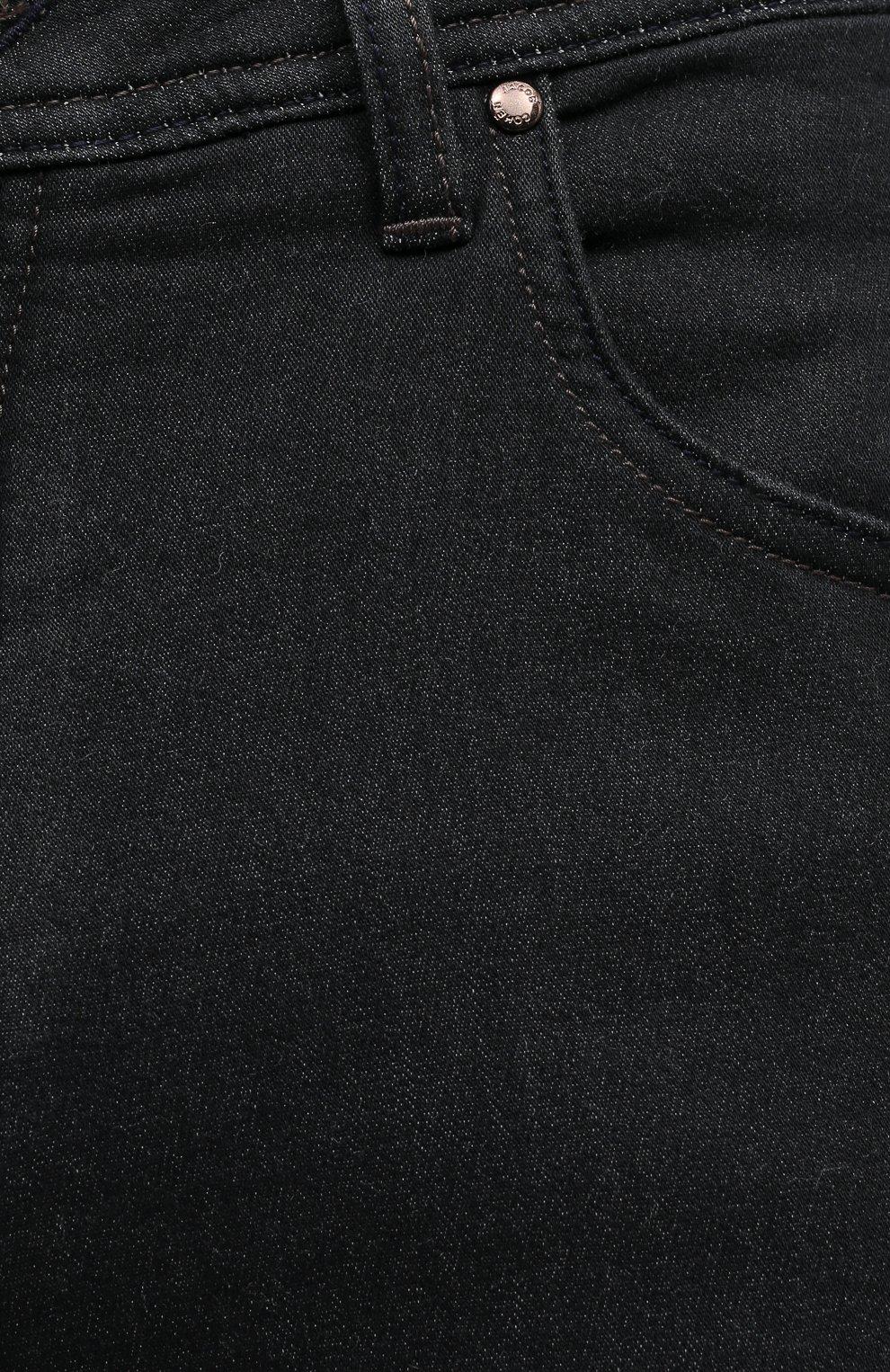 Мужские джинсы JACOB COHEN черного цвета, арт. J622 C0MF 02042-W1/54 | Фото 5