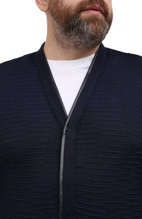 Мужской кардиган из кашемира и шелка ZILLI темно-синего цвета, арт. MBU-CA085-VAWA1/ML01 | Фото 5