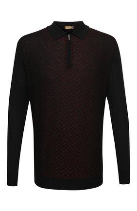Мужское поло из кашемира и шелка ZILLI черного цвета, арт. MBU-PZ102-VASP1/ML01 | Фото 1