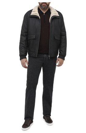 Мужское поло из кашемира и шелка ZILLI черного цвета, арт. MBU-PZ102-VASP1/ML01 | Фото 2