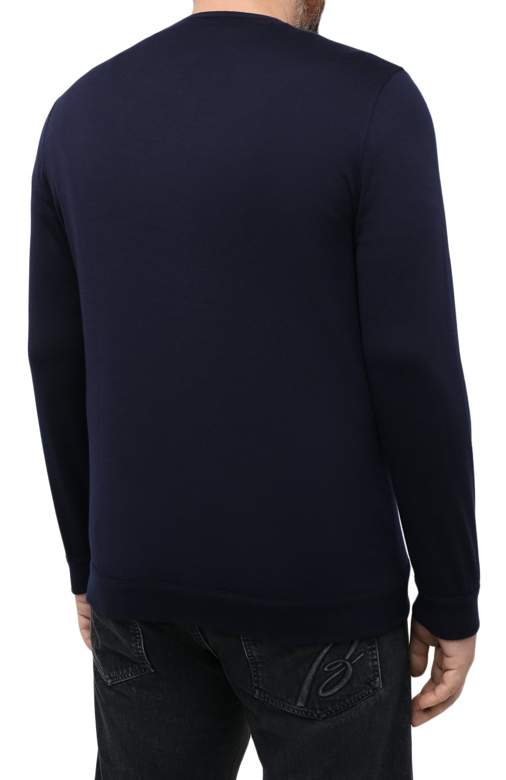 Мужской джемпер из хлопка и кашемира ZILLI темно-синего цвета, арт. MBU-RN140-JEP01/ML01 | Фото 4