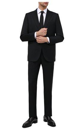 Мужской шерстяной костюм ZILLI черного цвета, арт. MMU-P242Z-00513/0001   Фото 1 (Материал подклада: Купро; Материал внешний: Шерсть; Рукава: Длинные; Костюмы М: Однобортный; Стили: Классический)