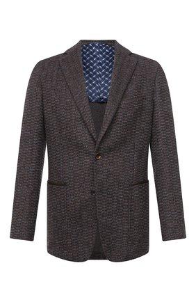 Мужской пиджак из кашемира и шерсти ZILLI светло-коричневого цвета, арт. MNU-ECKX-2-D6996/M001   Фото 1