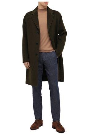 Мужской хлопковые брюки CORNELIANI темно-синего цвета, арт. 864ER7-0820154/00 | Фото 2