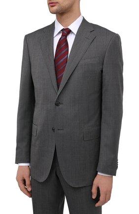Мужской шерстяной костюм CORNELIANI темно-серого цвета, арт. 867268-0817072/92 Q1   Фото 2