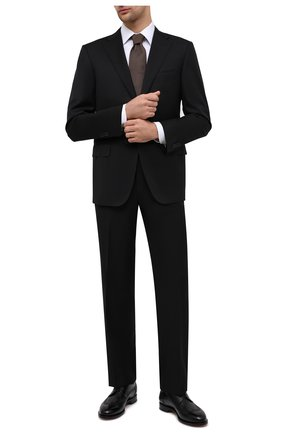 Мужской шерстяной костюм CORNELIANI черного цвета, арт. 867315-0818150/92 Q1 | Фото 1