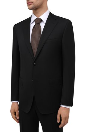 Мужской шерстяной костюм CORNELIANI черного цвета, арт. 867315-0818150/92 Q1 | Фото 2