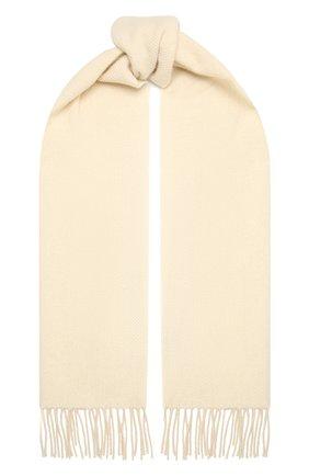 Мужской кашемировый шарф CORNELIANI белого цвета, арт. 86B396-0829006/00 | Фото 1