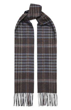 Мужской шарф из шелка и кашемира CORNELIANI голубого цвета, арт. 86B398-0829012/00 | Фото 1