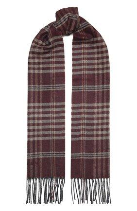 Мужской шарф из шелка и кашемира CORNELIANI бордового цвета, арт. 86B398-0829012/00 | Фото 1