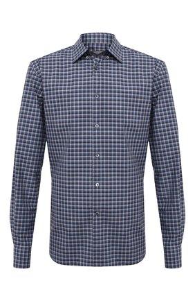 Мужская хлопковая рубашка CORNELIANI темно-серого цвета, арт. 86P120-0811529/00 | Фото 1