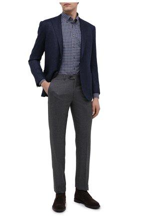 Мужская хлопковая рубашка CORNELIANI темно-серого цвета, арт. 86P120-0811529/00 | Фото 2