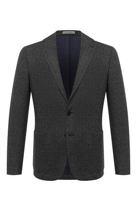 Мужской пиджак из хлопка и шерсти CORNELIANI темно-синего цвета, арт. 86X213-0816810/90 | Фото 1
