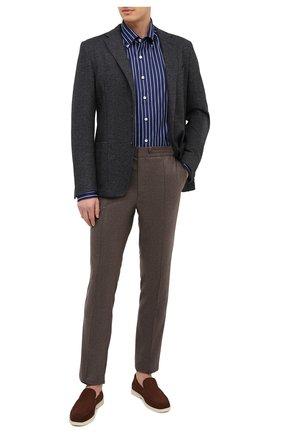Мужской пиджак из хлопка и шерсти CORNELIANI темно-синего цвета, арт. 86X213-0816810/90 | Фото 2