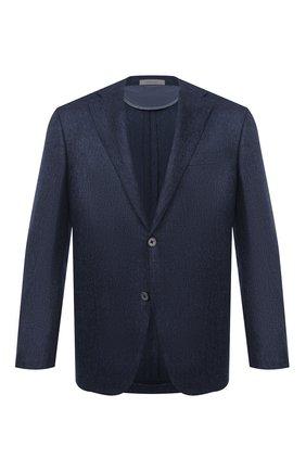 Мужской кашемировый пиджак CORNELIANI темно-синего цвета, арт. 86X240-0818604/90   Фото 1