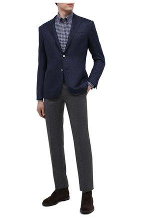Мужской кашемировый пиджак CORNELIANI темно-синего цвета, арт. 86X240-0818604/90   Фото 2