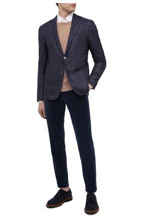 Мужской пиджак из шерсти и кашемира CORNELIANI синего цвета, арт. 86XY76-0816260/90   Фото 2