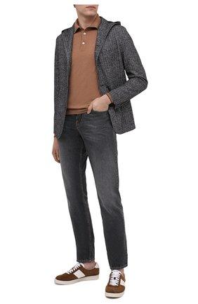 Мужской пиджак из шерсти и хлопка ELEVENTY темно-синего цвета, арт. B70GIAB01 TES0B115   Фото 2