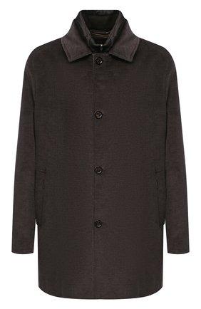 Мужская утепленное пальто из хлопка и шерсти MOORER темно-коричневого цвета, арт. M0NFERRAT0-LUS/A20M910LUSC | Фото 1