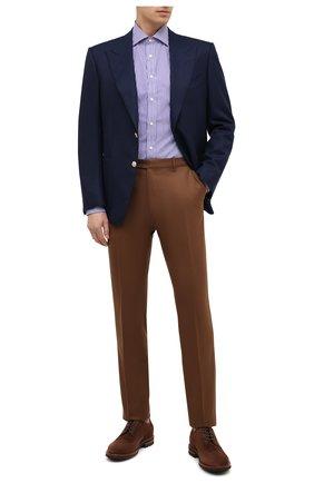 Мужская хлопковая рубашка RALPH LAUREN разноцветного цвета, арт. 790806127 | Фото 2