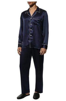 Мужская шелковая пижама RALPH LAUREN темно-синего цвета, арт. 790791911 | Фото 2