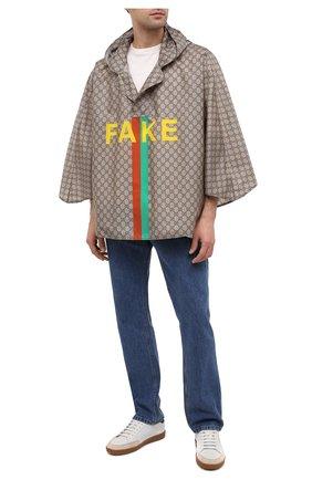 Мужская накидка «fake/not» GUCCI бежевого цвета, арт. 636396/4G355 | Фото 2