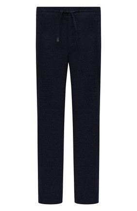 Мужские шерстяные брюки BRIONI темно-синего цвета, арт. RPM20L/0ZA0J/NEW SIDNEY | Фото 1 (Материал внешний: Шерсть; Длина (брюки, джинсы): Стандартные; Случай: Повседневный; Big sizes: Big Sizes; Стили: Кэжуэл)