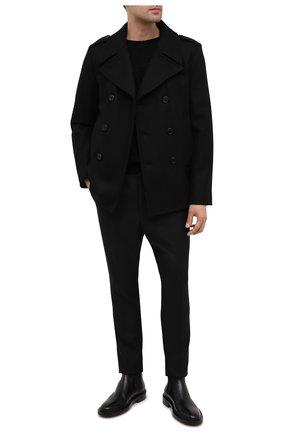 Мужской шерстяной бушлат SAINT LAURENT черного цвета, арт. 628690/Y060W | Фото 2