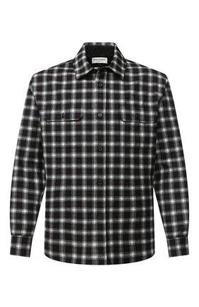 Мужская рубашка из шерсти и кашемира SAINT LAURENT черно-белого цвета, арт. 625756/Y1B97 | Фото 1
