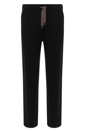 Мужские шерстяные брюки BRIONI черного цвета, арт. UMGL0L/09K07 | Фото 1
