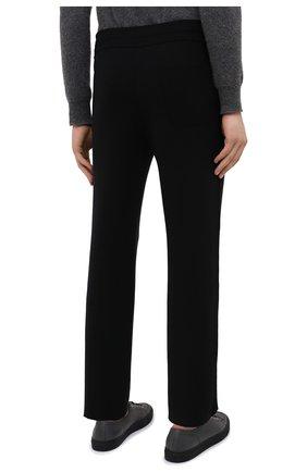 Мужские шерстяные брюки BRIONI черного цвета, арт. UMGL0L/09K07 | Фото 4