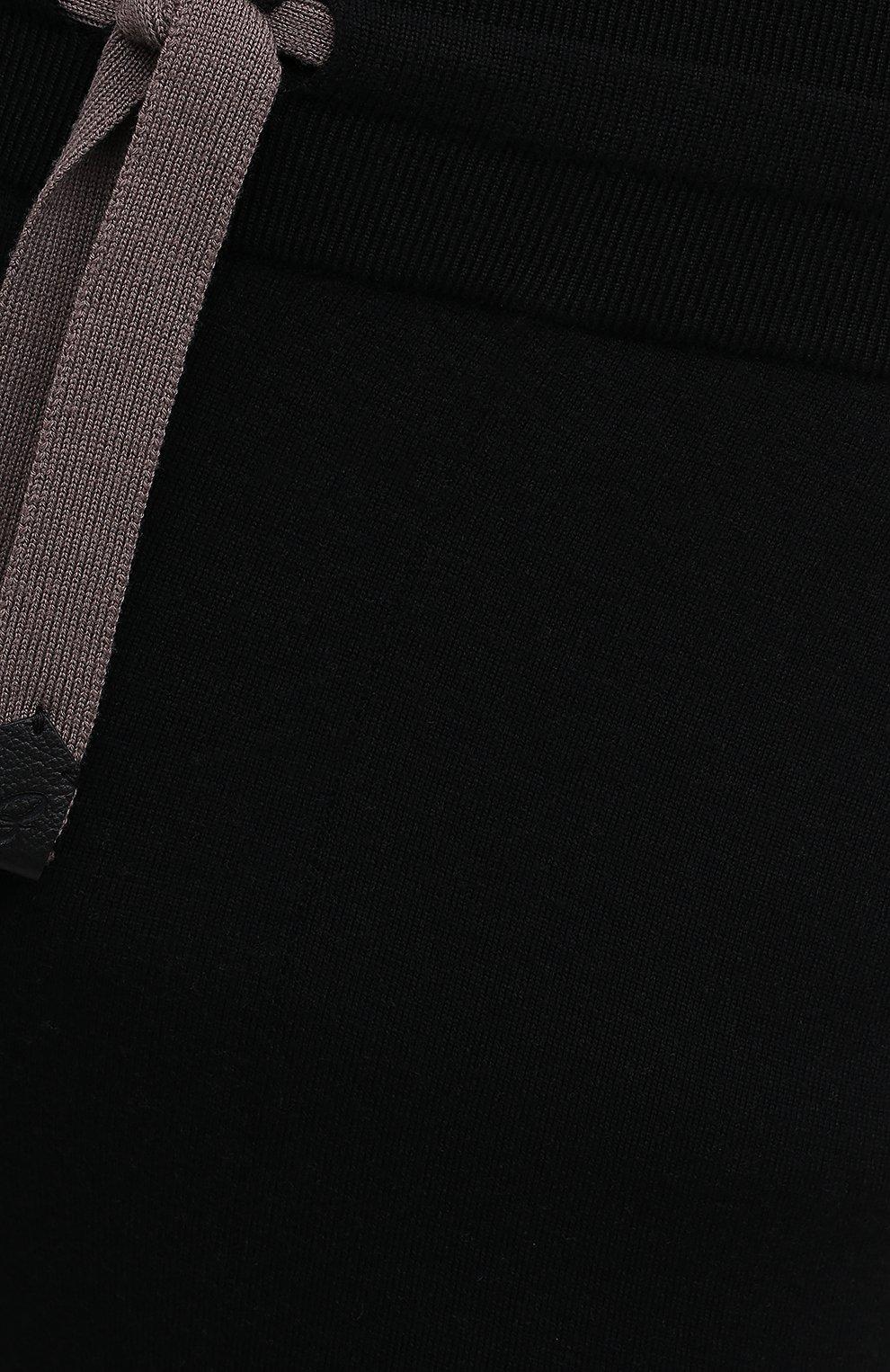 Мужские шерстяные брюки BRIONI черного цвета, арт. UMGL0L/09K07 | Фото 5