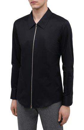 Мужская хлопковая рубашка ZEGNA COUTURE черного цвета, арт. 802134/9NGBNT | Фото 3