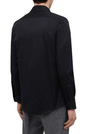 Мужская хлопковая рубашка ZEGNA COUTURE черного цвета, арт. 802134/9NGBNT | Фото 4