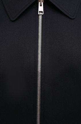 Мужская хлопковая рубашка ZEGNA COUTURE черного цвета, арт. 802134/9NGBNT | Фото 5