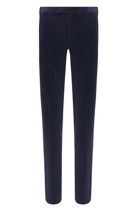 Мужские брюки из хлопка и кашемира ERMENEGILDO ZEGNA темно-синего цвета, арт. 865F07/77TB12 | Фото 1