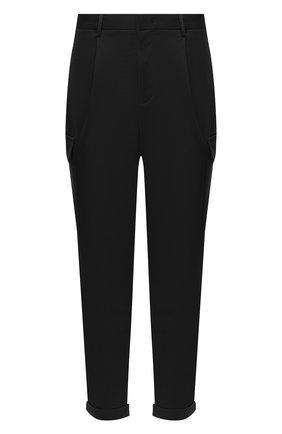 Мужской хлопковые брюки-карго Z ZEGNA черного цвета, арт. VV136/ZZ363 | Фото 1