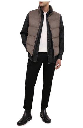 Мужской хлопковые брюки-карго Z ZEGNA черного цвета, арт. VV136/ZZ363 | Фото 2
