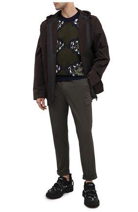 Мужской хлопковые брюки-карго Z ZEGNA хаки цвета, арт. VV136/ZZ363 | Фото 2