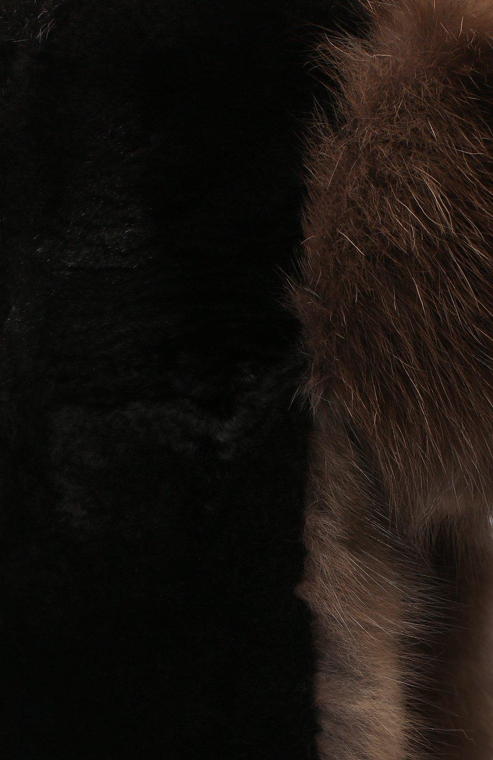 Мужская шапка-ушанка из меха соболя FURLAND черного цвета, арт. 0012207450090300000 | Фото 3