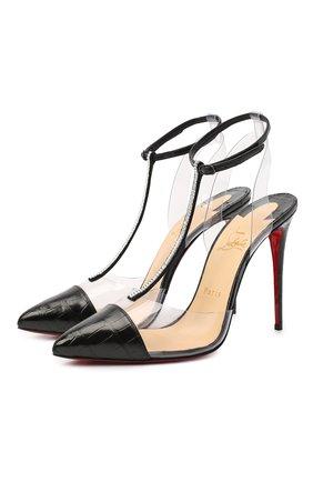Кожаные туфли Nosy strass 100 | Фото №1