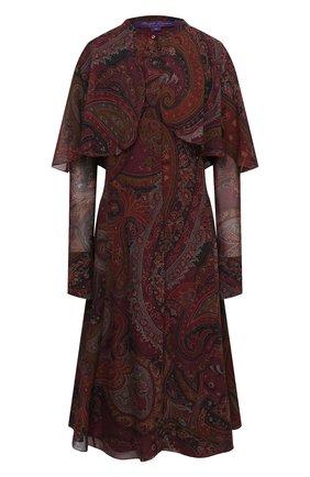 Женское шелковое платье RALPH LAUREN бордового цвета, арт. 293835473 | Фото 1