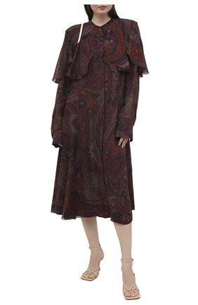 Женское шелковое платье RALPH LAUREN бордового цвета, арт. 293835473 | Фото 2