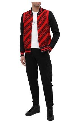 Мужские кожаные кеды ace GUCCI черного цвета, арт. 625672/1XG10 | Фото 2