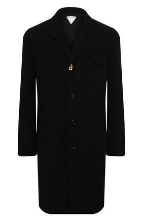 Мужской шерстяное пальто BOTTEGA VENETA черного цвета, арт. 635831/V03E0 | Фото 1