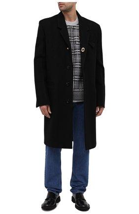 Мужской шерстяное пальто BOTTEGA VENETA черного цвета, арт. 635831/V03E0 | Фото 2