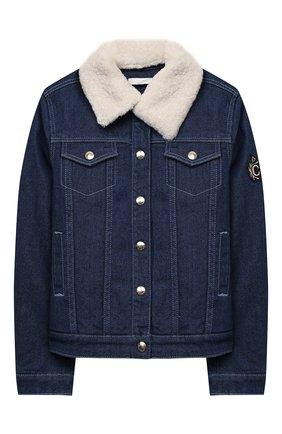 Детская джинсовая куртка CHLOÉ синего цвета, арт. C16368 | Фото 1