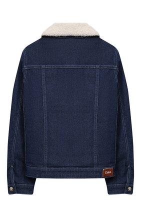 Детская джинсовая куртка CHLOÉ синего цвета, арт. C16368 | Фото 2