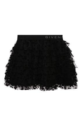 Детская юбка GIVENCHY черного цвета, арт. H13037 | Фото 1