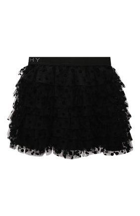 Детская юбка GIVENCHY черного цвета, арт. H13037 | Фото 2
